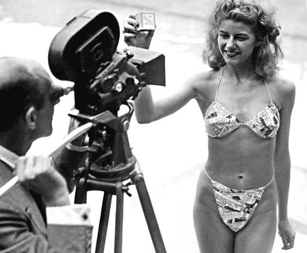Мишлен Бернардини перед камерой, 1946 год