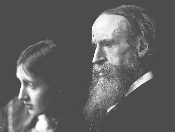 Вирджиния с отцом писателем Лесли Стивеном