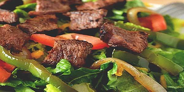 Мясной салат c говядиной фото