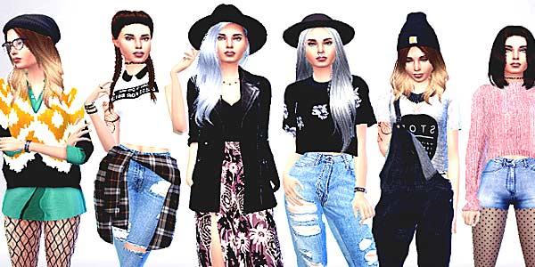 Чудные превращения модных комбинаций одежды фото