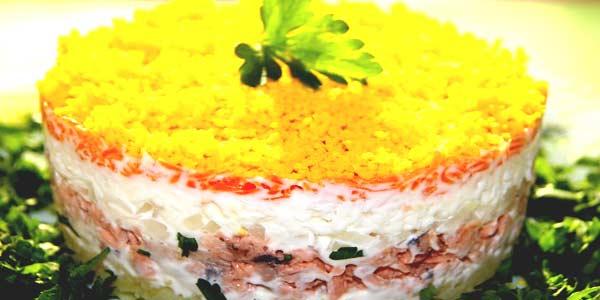Традиционные праздничные салаты фото